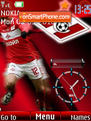 FC Spartak Moscow SWF Clock theme screenshot