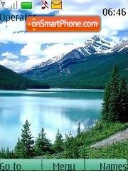 Lakes in mountains theme screenshot
