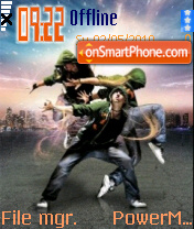 Hip Hop Dancing 01 tema screenshot