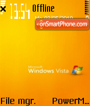 Orange Vista theme screenshot