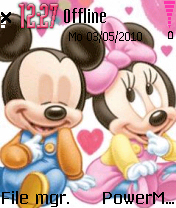 Mickey And Minnie 01 theme screenshot