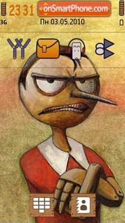 Angry pinocchio es el tema de pantalla