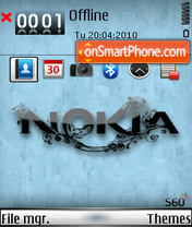 Nokia 9553 theme screenshot