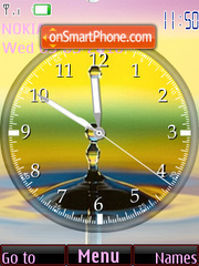 Water Drop Clock theme screenshot