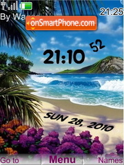 Beach clock theme screenshot
