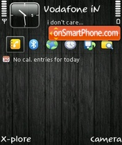 Wooden black by ishaque theme screenshot