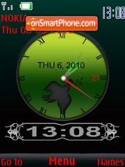 Green clock theme screenshot