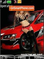 Girl and sport auto es el tema de pantalla