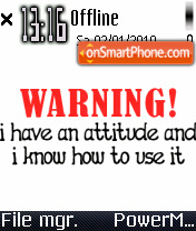Attitude 03 es el tema de pantalla