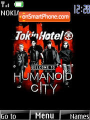 Tokio Hotel Humanoid City theme screenshot