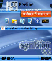 Symbian OS theme V1 theme screenshot