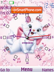 Marie Cat Clock theme screenshot
