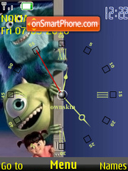 Monsters Inc Clock es el tema de pantalla
