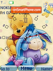 Pooh n Eeyore Clock theme screenshot