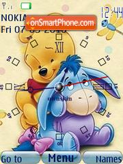 Capture d'écran Pooh n Eeyore Clock thème