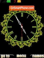 1 green clock theme screenshot