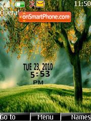 Nature clock theme screenshot