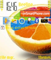 Coloured Orange theme screenshot