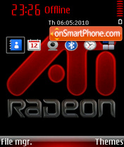 Ati radeon 01 theme screenshot