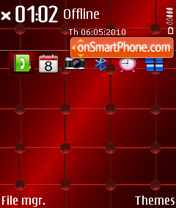 Orbs Red 01 theme screenshot