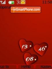 3heart clock theme screenshot
