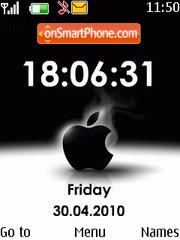 Black apple clock es el tema de pantalla
