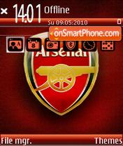 Fc arsenal theme screenshot