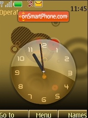 Analog clock anim theme screenshot
