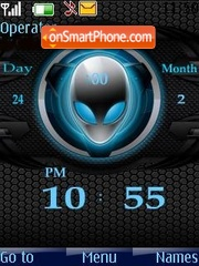 Alien clock theme screenshot