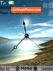 Скриншот темы Shore Clock