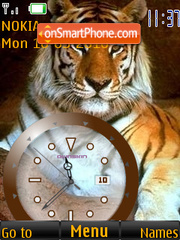 Tiger Clock theme screenshot