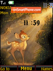 Bambi Clock theme screenshot