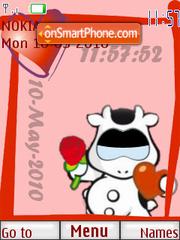 Cowco Clock es el tema de pantalla