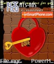 Hearts and Love theme screenshot
