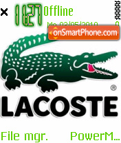 Lacoste 572 tema screenshot
