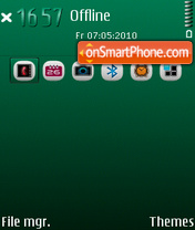 Oil Green 2.0 FP125 theme screenshot