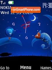 Alien SWF Clock theme screenshot