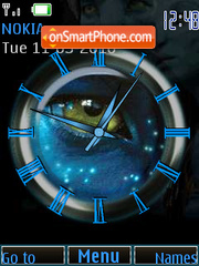 Avatar Clock Theme-Screenshot