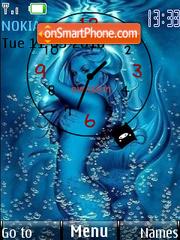 Chica Azul theme screenshot