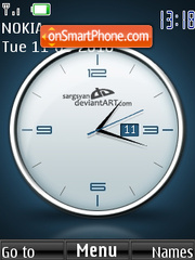 Cool Clock theme screenshot
