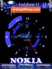 Nokia Clock theme screenshot