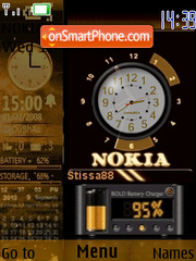 Nokia Gold theme screenshot