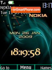 Nokia Royal Clock theme screenshot