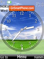 Pradera hermosa Clock es el tema de pantalla