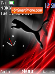 Puma SWF Clock tema screenshot