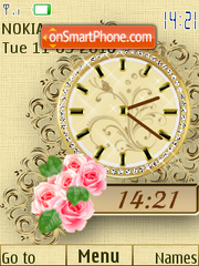 Rosas SWF Clock theme screenshot