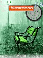Silla verde Clock es el tema de pantalla