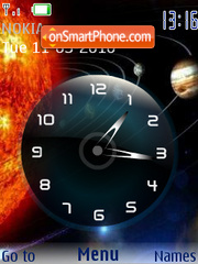 Sistema solar SWF Clock theme screenshot