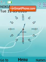 Turquesa Clock theme screenshot