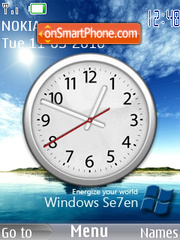 Windows 7 Clock theme screenshot